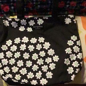 NWT marimekko for Clinique Blk w/Flowers Tote Bag